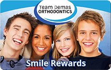 Team Demas Orthodontics smile rewards