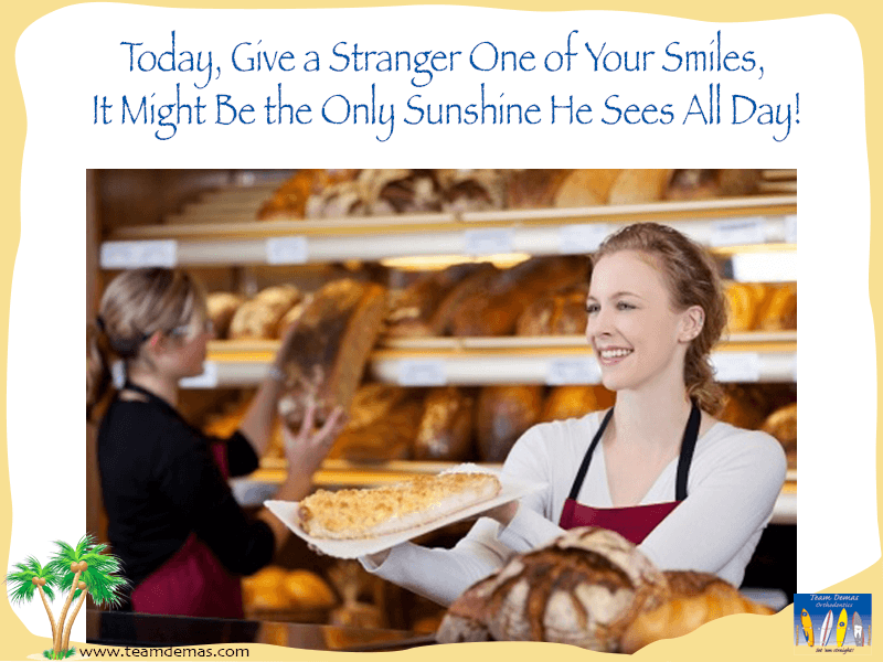 smile to strangers