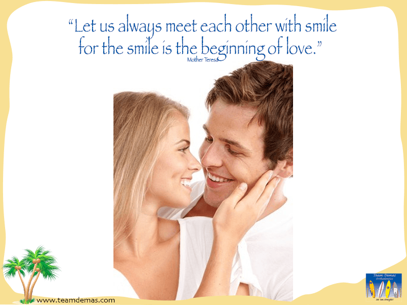 smile is the beginning of love