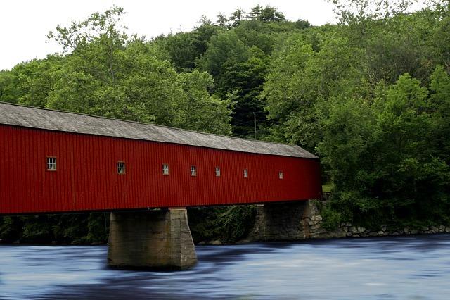 Connecticut bridge near Bishops corner