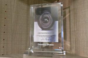 2017 orthodontist award